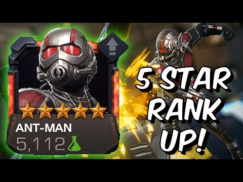 5 Star Ant-Man Rank Up & Gameplay - Ghost & Wasp Synergy - Marvel Contest Of Champions