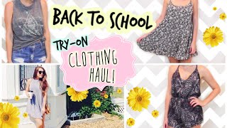 Huge Back to School Try-On Clothing Haul!