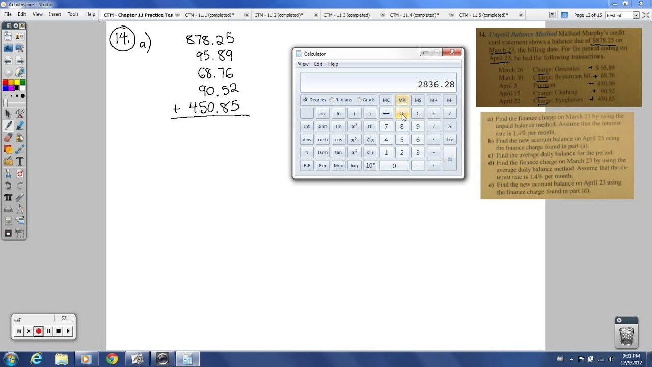 CTM - Chapter 11 Practice Test (Consumer Mathematics) - YouTube