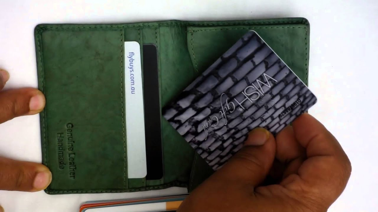 Real Leather Card Case Business Card Holder Tiny Wallet - YouTube