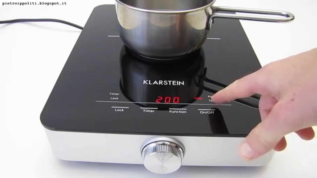 Klarstein varicook sx 1800w test piano cottura induzione for Piastra a induzione portatile ikea