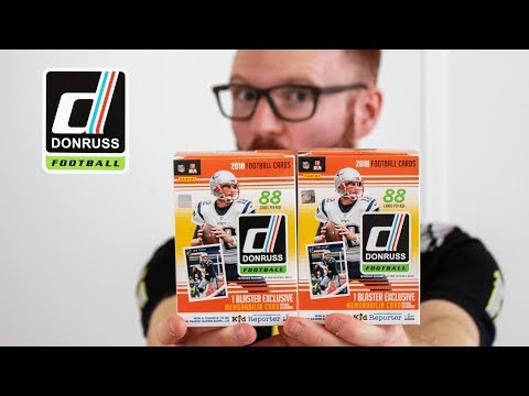 2018 Donruss NFL Trading Cards - Unboxing!