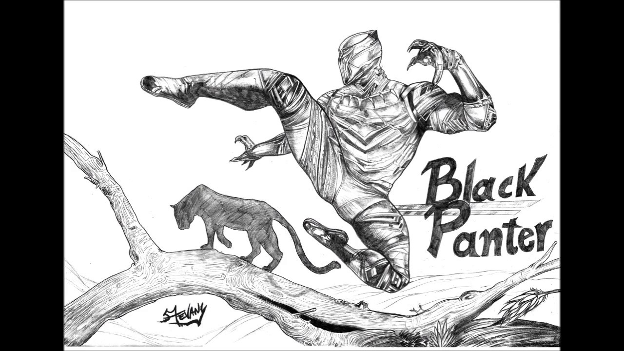 Pantera Negra Desenho Por Stevany Art Youtube