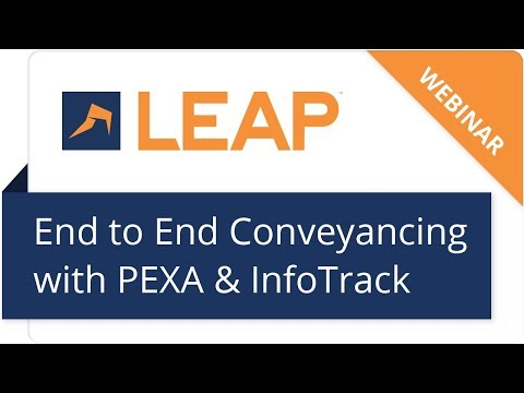 Webinar: End to end conveyancing with InfoTrack and PEXA -  NSW