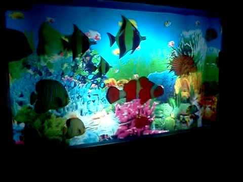 Fake aquarium youtube for Fake artificial aquarium fish tank