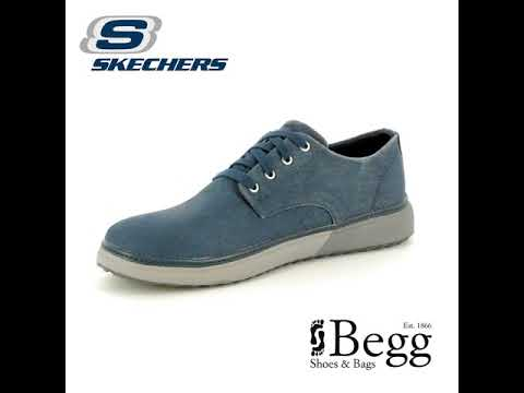ca53a59f393f Skechers Folten Brisor 65371 NVY Navy casual shoes - YouTube