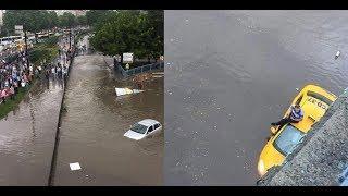 Sular Aksaray metrosunu böyle bastı