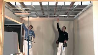 Controsoffitto In Cartongesso Translate : Come rasare una parete interna in passi how to apply a skim
