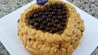 Mocha Cake With Caramel Icing For Father's Day! Easy Recipe,