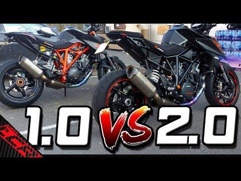 THE Super Duke Comparison 1.0 VS 2.0   Is The 2.0 Better?