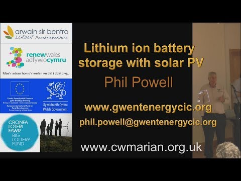 Lithium ion battery storage with solar PV.