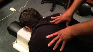 Chiropractic Adjustment on Weightlifter 2 - Neck, Back, Hip, Vibrational Therapy