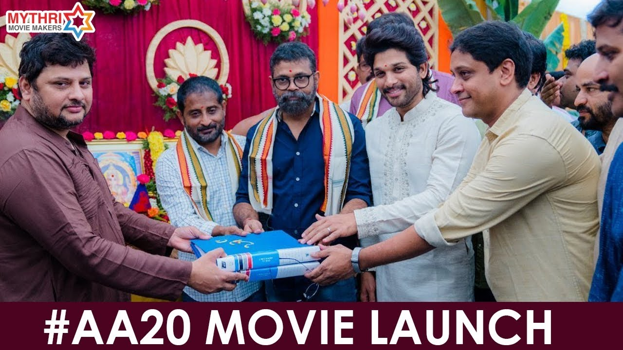 Download #AA20 Movie Launch | Allu Arjun | Rashmika | Sukumar | Devi Sri Prasad | Mythri Movie Makers