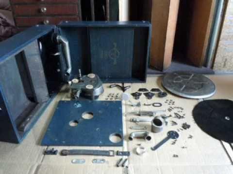 Repair of phonograph-6 蓄音機の整備 COLUMBIA  No 201