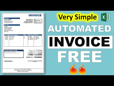 how to create automated invoice in excel in hindi - YouTube