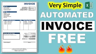 how to create automated invoice in excel || in hindi