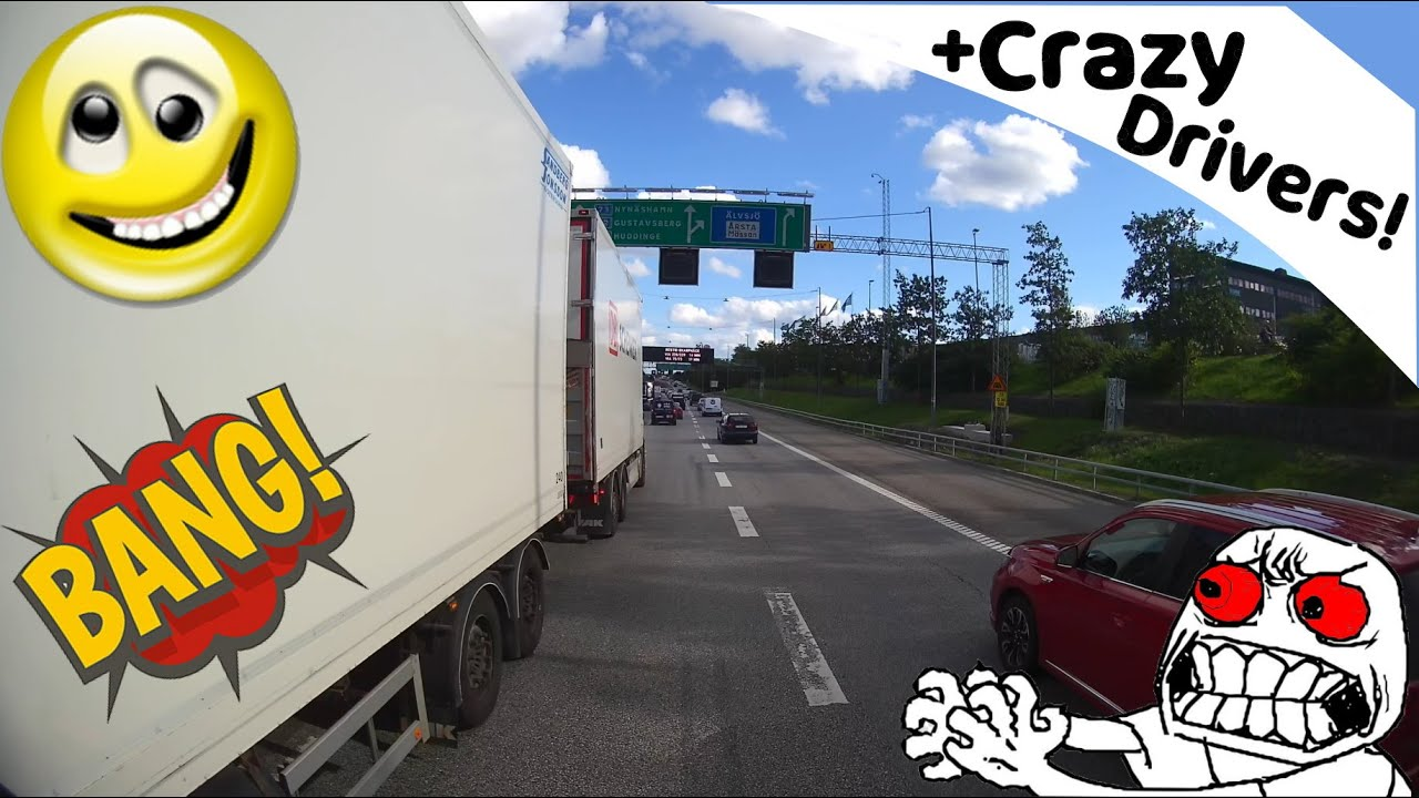 Trucker Road Rage + Crazy drivers in Sweden! *Guest clip Edition*