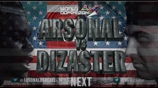 KOTD - Rap Battle - Dizaster vs Arsonal | #WD4