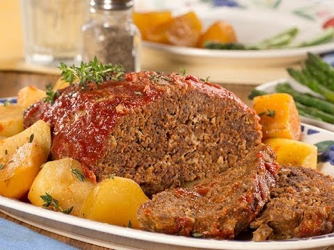 Slow Cooked Meatloaf and Potatoes
