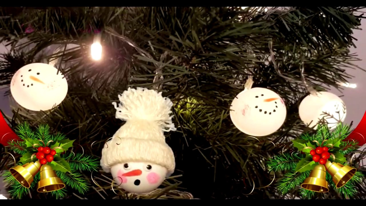 ping pong ball snowman diy christmas recycled decoration how to youtube