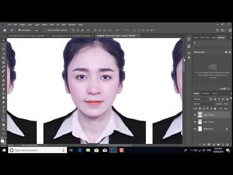 แต่งรูปภาพติดบัตรง่ายๆ ด้วยโปรแกรม Photoshop CC 2019 Photo 3 x 4 และ 4 x 6