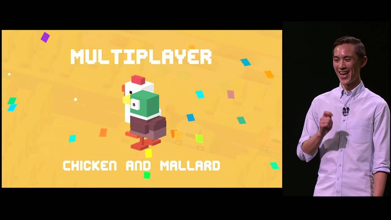AppleTV Demo Crossy Road by Andy Sum at Apple Special Event, Sept 2015