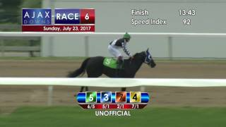 Ajax Downs July 23, 2017 Race 6