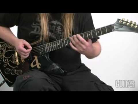 Amon Amarth ''The Pursuit of Vikings'' Lesson Guitar by Johan Söderberg and Olavi Mikkonen