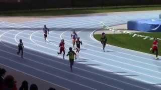 Icahn Stadium 2015 9 & 10 girls 200m Kera Taffe