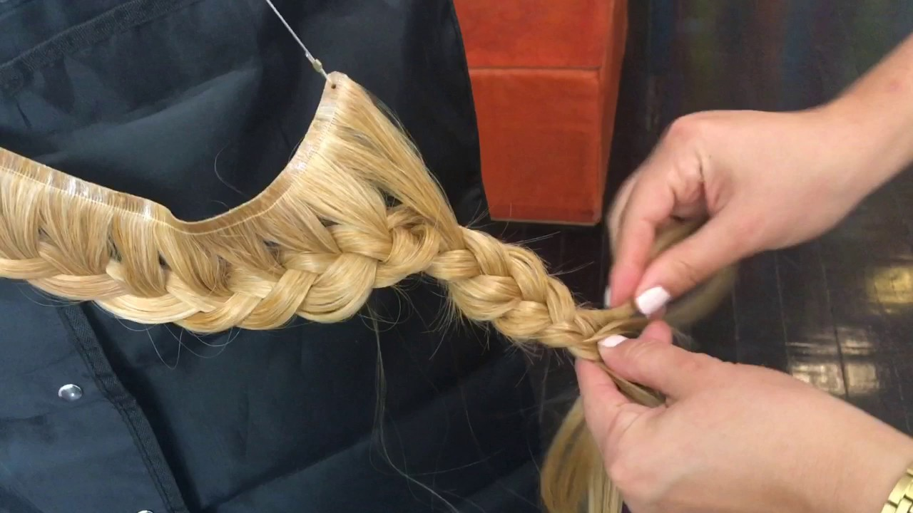 How To Create A Crown Braid With Hair Extensions Youtube