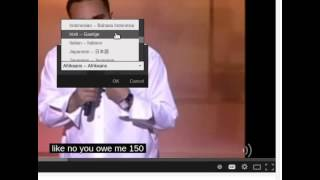 Wie man ein Youtube-Video automatisch übersetzen kann.
