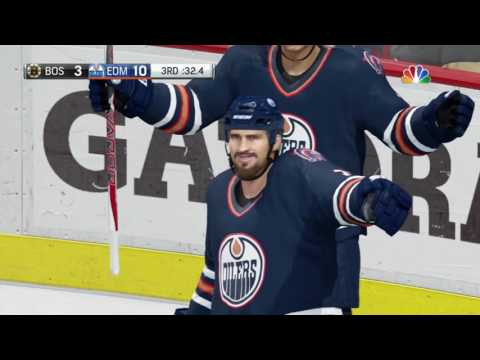 Edmonton Oilers vs Boston Bruins NHL 18 beta Hockey League