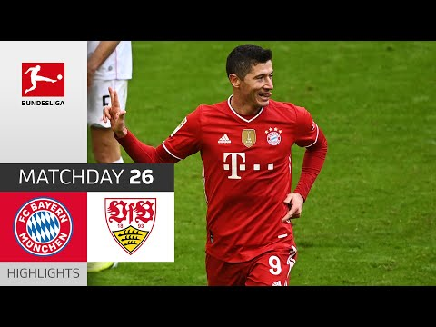 FC Bayern München - VfB Stuttgart   4-0   Highlights   Matchday 26 – Bundesliga 2020/21