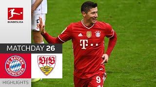 FC Bayern München - VfB Stuttgart | 4-0 | Highlights | Matchday 26 – Bundesliga 2020/21