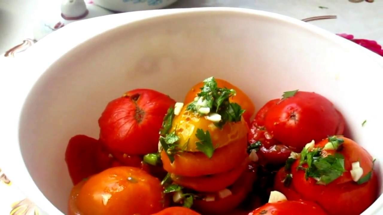 Как приготовить вкуснейшую закуску из помидор. Помидоры по-корейски. Супер помидорки в заправке!