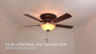 Harbor Breeze Lynstead LED Ceiling Fan Installation Guide