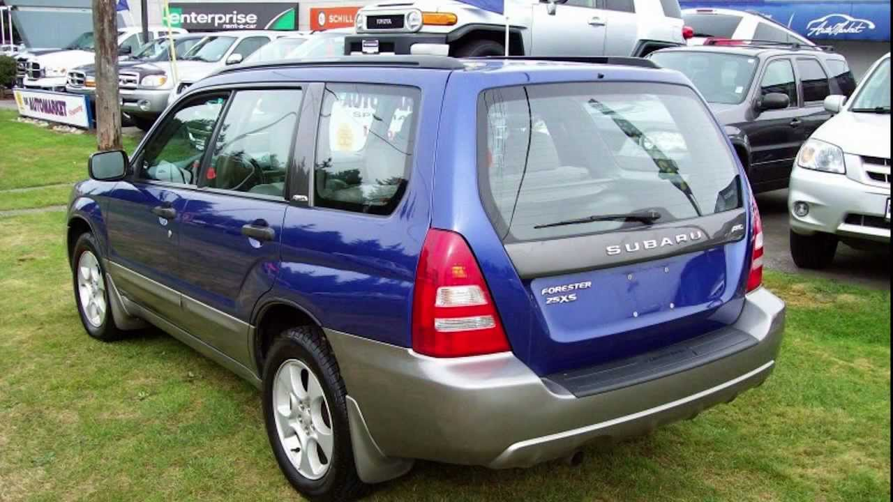 2003 subaru forester xs a w d 1 owner service history suv youtube freerunsca Images