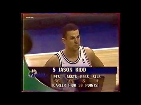Seattle @ Dallas - Jason Kidd 36 pts 9 reb 8 ast - 1996