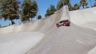 Traxxas Rally Shreds SoCal Skate Park