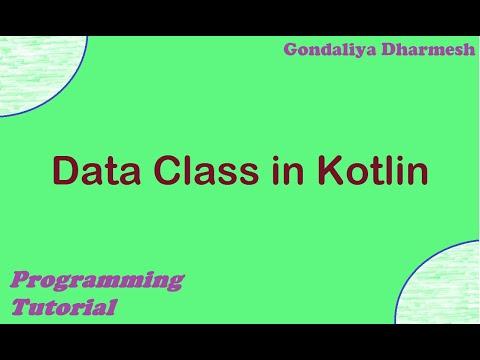 Data Class in Kotlin. Kotlin Programming Tutorial in Hindi thumbnail