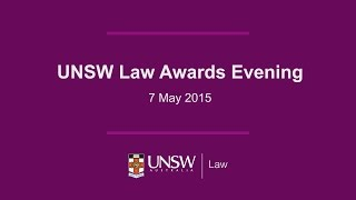 UNSW Law Awards Evening 2015