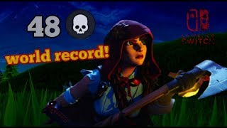 WORLD RECORD 48 kill squads FORTNITE ON NINTENDO SWITCH!!chapter 2#MansaRC #MansaDown #Fazeclan