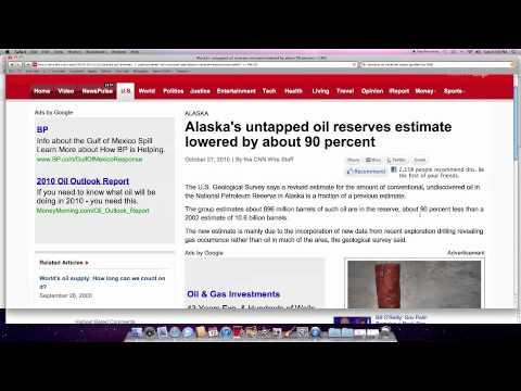 alaskan oil reserves downgraded by 90%