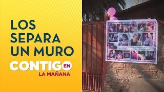 El muro que divide a la familias de Fernanda Maciel y Felipe Rojas - Contigo en La Mañana