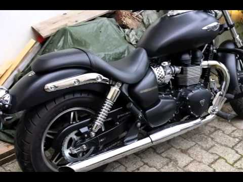Triumph Speedmaster 900i 2013 Beforeafter Trident Exhaust Youtube