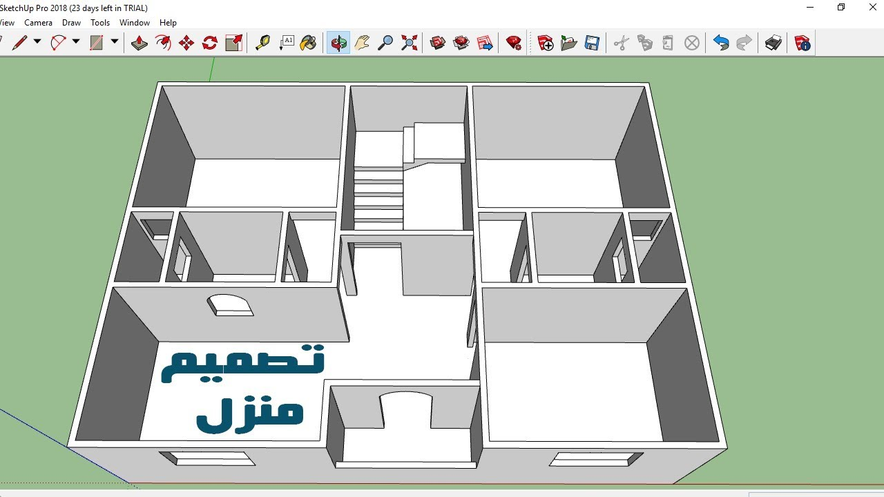 تصميم منزل مساحة 100 متر 10 10م Sketchup 2018 3d Youtube