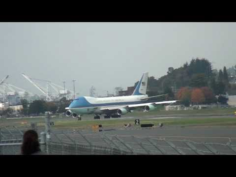 Air Force One Take Off Boeing Field Seattle