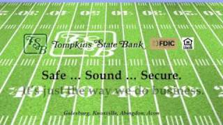 Tompkins State Bank Football Ad