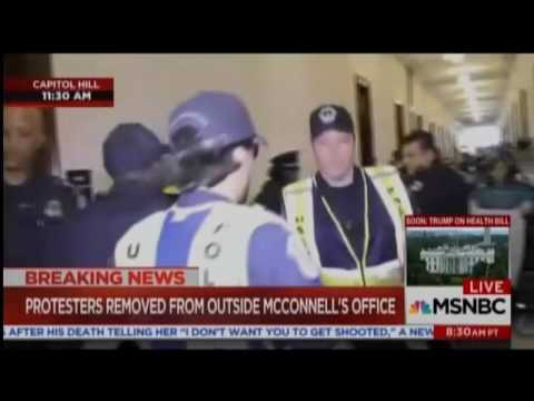 Capitol Police Carry Out Health Care Protesters