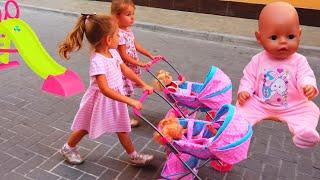 Куклы беби бон и Сборник про игры для девочек Ксюша и Арина играют Как Мама